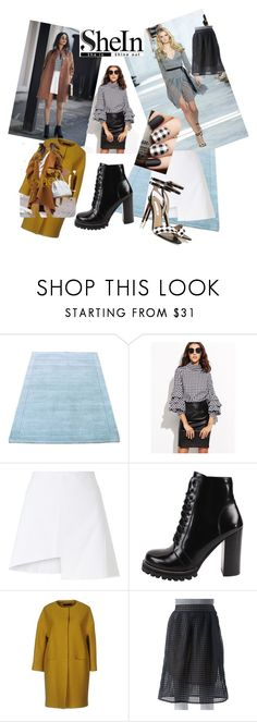 """""""runway gingham"""" by kkornak ❤ liked on Polyvore featuring Diane Von Furstenberg, WÃ¥ven, Jeffrey Campbell, NUVOLA and Double Click"""