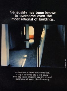 Bernard Tschumi, Advertisements for Architecture (1976-1977)
