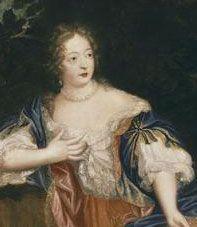 Madame de Montespan, detail from 1678 portrait by Pierre Mignard