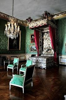 The dauphin's chamber is where the eldest son of the King of France would have lived while in residence.   The room, as photographed by Stephanie Gaveau Mounts, is decorated as it would have been during Louis XV's reign, although the bed is not the original dauphin bed but one that was made for an aristocrat.  http://leahmariebrownhistoricals.blogspot.com