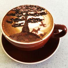 Nature, latte art