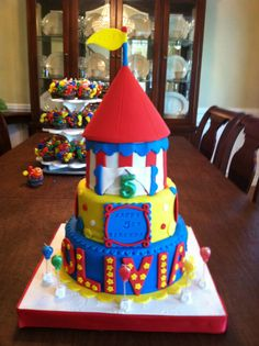 My Girls Birthday Cake 2011 Carnival Theme Birthday Bash