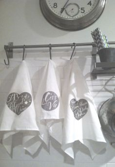 Inspiration - DISH TOWEL kitchen towel. Home Is Where There Are Dirty Dishes.  flour sack cotton dish towel.