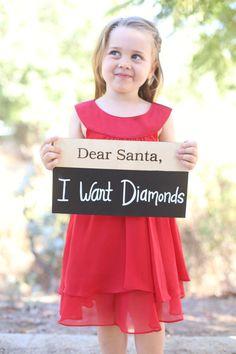 Dear Santa Christmas Prop Chalkboard for Kids by braggingbags