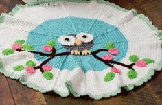Crocheted Owl Blanket (PDF file) http://www.redheart.com/files/patterns/pdf/LW3975_corr.pdf