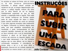 Julio Cortázar - Instruções para Subir uma Escada