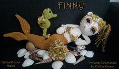 Finny, Larry en een parelnetje. Allemaal in 1 geweldig patroon van Crochessie by Esther Emaar :) Patroon en pakketjes te bestellen bij House of Creations https://www.houseofcreations.net/