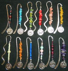 Astrology Zodiac Silver Bookmark NEW Choose from 12 Styles Faux Pearl Gemstone
