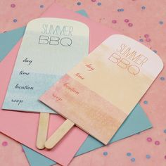 Free printable Popsicle Invitations [create] | ballarddesigns.com