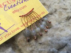 Moonstone Loop Stitch Markers by circusgirlcreations on Etsy