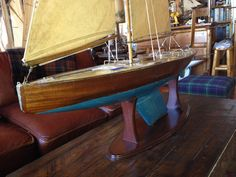 """Marblehead class racer """"Flame"""" 50"""" LOA free sailor, late 30s : 6, Christibys SOLD"""