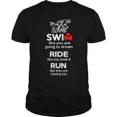 Not To Drown Crash Run Just Standard Unisex T-shirt Must-have Swim Bike Run