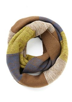 Straight to the Summit Circle Scarf in Brown. The chill in the air grows as you make your way up the mountain, but you keep on trekkin along the trail, staying warm with the help of this striped circle scarf! #multi #modcloth