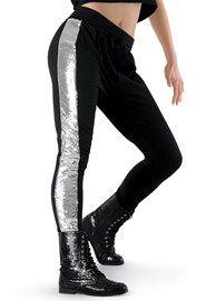 Sequin Inset Jogger Pants