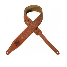 """Levy's 2.5"""" Garment Leather Guitar Strap - Musical Note"""
