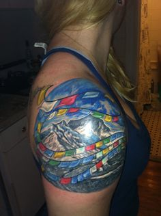 I want to go to Tibet so bad. This tatoo is a really powerful and well done piece. New York, New YorkLogan Aguilar