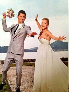 Just married!  Nole and Jelena