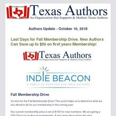 Last days to sign up for a great membership that helps you to succeed in book marketing.  Coupon code ends soon, save BIG now! Coupon, Texas, Coding, Author, Sign, Marketing, Writing, Day, Books