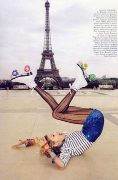 a toutes jambes #fashion #editorial anja rubik