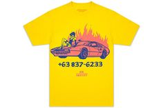 BOW3RY 'Crash' S/S Tee - Yellow