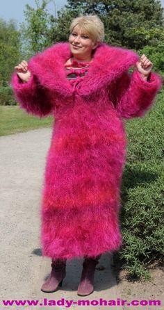 Mohair FUZZY SWEATER LONG DRESS L-XL | eBay