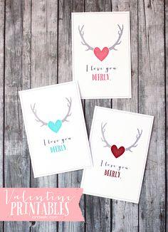 Love You Dearly Valentine printables