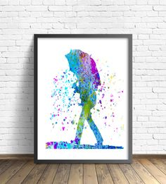 Watercolor  Painting Umbrella Art Poster by TheBohoWordsmith on Etsy