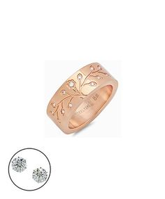 This Rose Gold & Simulated Diamonds Tree of Life Ring is perfect! #zulilyfinds