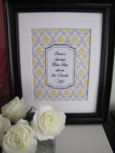 Art?    SALE Blue Sky Yellow and Gray Damask Art Print by LondonParisRome