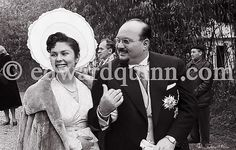 HRH Princess Ferial With Her Father King Farouk I Of Egypt… 1957