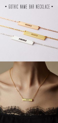 Gothic Name Plates Necklace • Gothic Old English Name Necklace • engraved bar necklace • personalized name necklace silver • gold bar necklace personalized • Rose gold necklace with name • Name necklace • Customize necklace with name • engraved necklaces • Bar Name Necklaces • Jewelry for sister • Minimalist jewelry • xmas gift ideas for women • christmas gifts for guys • toddler christmas gifts • best birthday gifts  for her • best friend presents