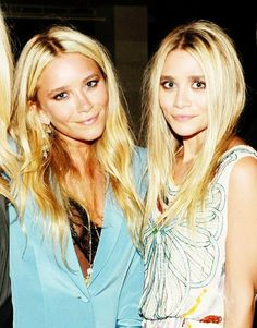 Olsens @Katie Balch remember our love for the Olsen twins?? I think you soooo look like the one on the left!!!