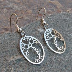 Neuron Earrings - science jewelry, great gift for a teacher or someone in biology, medicine, or neurology