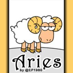 Cute, Garfield-esque Aries animated GIF cartoon.