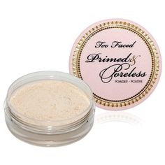 Too Faced Cosmetics Primed and Poreless Powder...by far my fave finishing powder!!