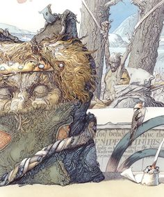 """Alexander Mikhnushev       Illustration for the book """"The Man Who Would Be The King"""" Grimm Press"""