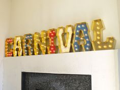 CARNIVAL with GOLD edging and HOLLYWOOD Lights by CarnivalLetters