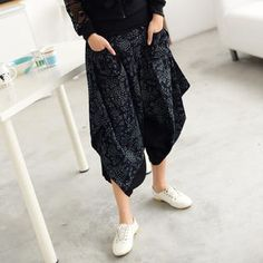 Patterened Panel Harem Pants from #YesStyle <3 59 Seconds YesStyle.com