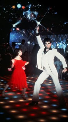 John Travolta and Karen Lynn Gorney in Saturday Night Fever - 1977