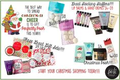 Don't miss our Christmas gifts with Perfectly Posh!