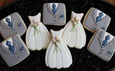 Wedding Cookies Wedding Dress Cookies Tux by 4theloveofcookies