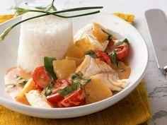 Kirsch-Curry mit Fisch und Ananas ist ein Rezept mit frischen Zutaten aus der Kategorie Fruchtgemüse. Probieren Sie dieses und weitere Rezepte von EAT SMARTER!