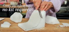 Resultado de imagen para high heel shoe template for fondant Shoe Box Cake, Shoe Cakes, Purse Cakes, High Heel Cakes, Camo Wedding Cakes, Shoe Template, Dragon Cakes, Designer High Heels, Fashion Cakes