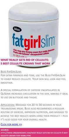 What really gets rid of cellulite: 5 best cellulite creams that work - Bliss FatGirlSlim - Source: http://marvelouscosmetics.com/products/elancyl-cellu-slim-200ml