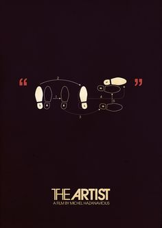 The Artist (2011) ~ Minimal Movie Poster by Ahmed Youness #amusementphile