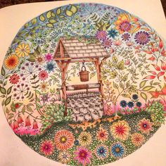 Secret Garden Colouring Book The Well