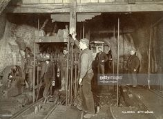 Ascending in the pit cage, Clifton Colliery, Nottinghamshire, Clifton Nottingham, Nottingham City, Coal Miners, History Page, Site Visit, Before Us, British History, Heritage Image, Stock Pictures