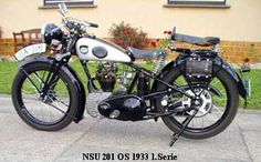 NSU 201 OS 1933 1.Serie Vintage Bikes, Vintage Motorcycles, Bike Photography, Old Bikes, Cafe Racer, Classic Bikes, Motorbikes, Cars, Vehicles