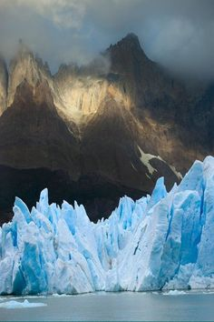 Grey glacier in Torres del Paine National Park, Patagonia, Chile #photography #activeadventures  #adventuretraveler
