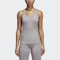 Shop our variety and selection of women's racerback, sport and fitness tank tops online today at adidas. Adidas Performance, Essentials, Basic Tank Top, Athletic Tank Tops, Workout, Style Summer, Women, Fashion, Sports Activities
